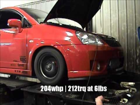 2003 Suzuki Aerio 2.0 Turbo 6psi Dyno Pulls