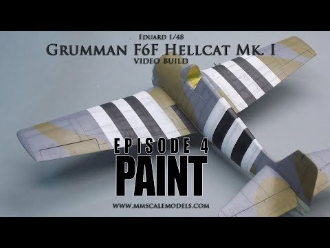 1/48 F6F-3 (Mk.I) Hellcat scale model step by step build - Ep.4 - Paint