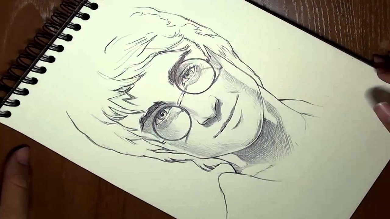 Cómo dibujar a Harry Potter en 3 minutos timelapse (How to draw ...