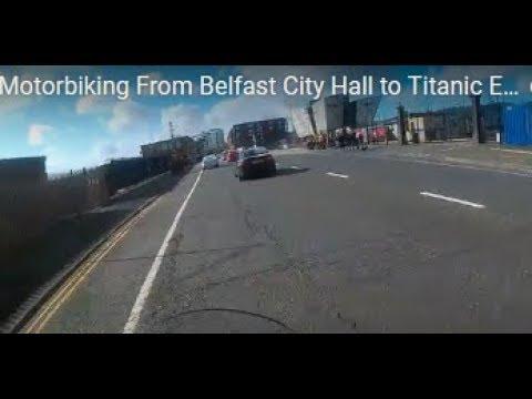 Motorbiking From Belfast City Hall to Titanic Exhibition Centre