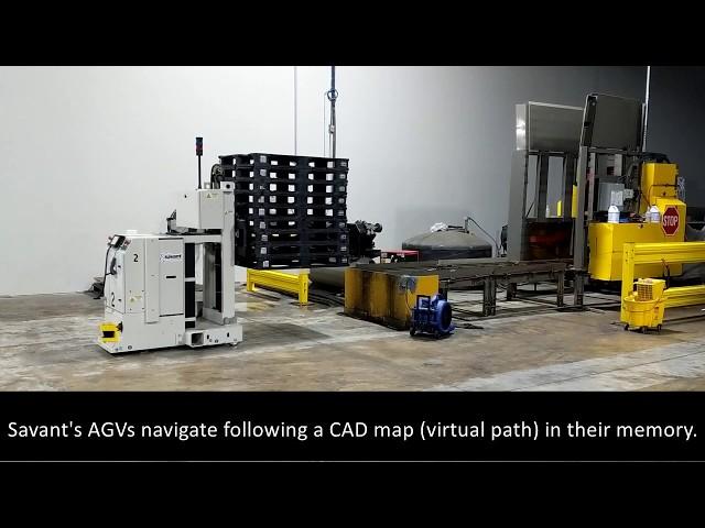 SAVANT Counterbalanced Fork AGV System