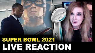 The Falcon & The Winter Soldier Trailer REACTION - Super Bowl