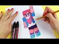 Pinkie Pie from My Little Pony Equestria Girls in Minecraft Style