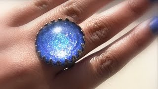 Diy Ideas: How To Make Jewelry Rings With Nail Polish, Create Your Own Nail Polish Jewelry Cabochon