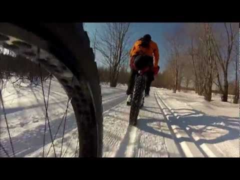 Fat bike Maine huts and trails
