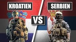 Wer hat das stärkere Militär? Kroatien vs Serbien