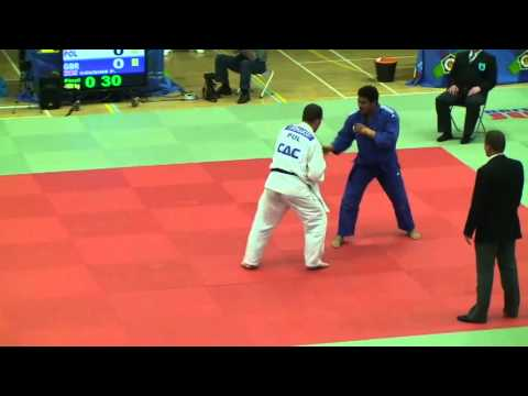 Peter Cousins takes on Tomasz Domanski in the -100kg final of the 2012 London British Open