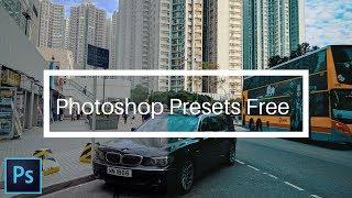Photoshop presets FREE (60+ color grading LUTs including cinematic Teal & Orange)