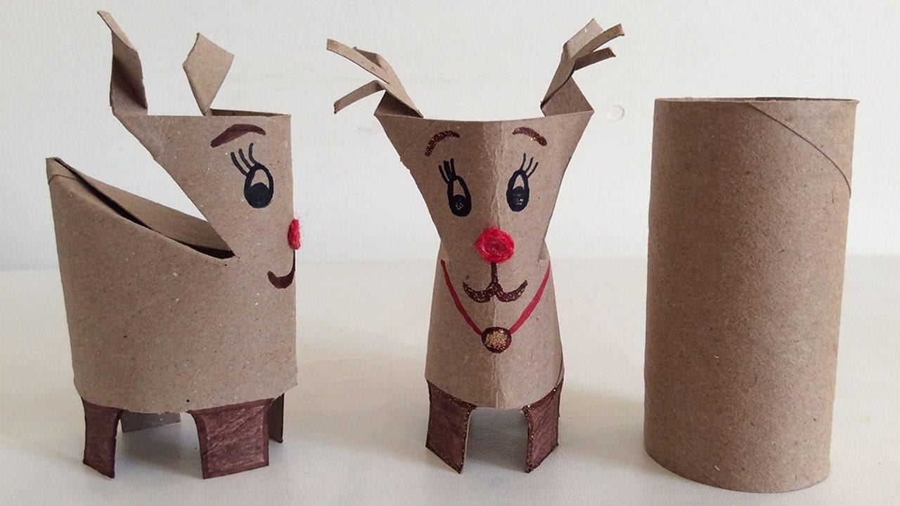 Reno de papel manualidades navide as manualidades de for Decoracion navidena con papel