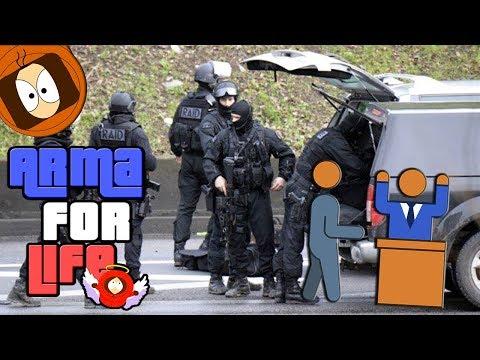 BRAQUEUR DE STATION vs RAID POLICE !   ARMA FOR LIFE