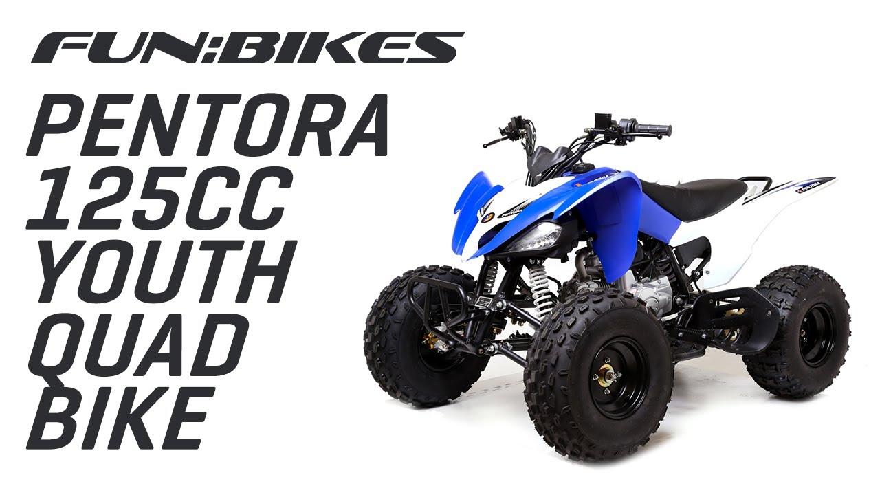 pentora 125cc blue adult quad bike youtube. Black Bedroom Furniture Sets. Home Design Ideas