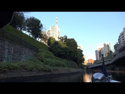 [4K→2K]秋の行楽 紅葉クルーズ@神田川 Autumn colors at Tokyo Kanda River Cruise FDR-AX100