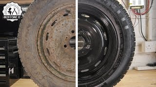 Super Rusty Spare Wheel Restoration