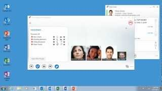 Share desktop and programs in Lync 2013