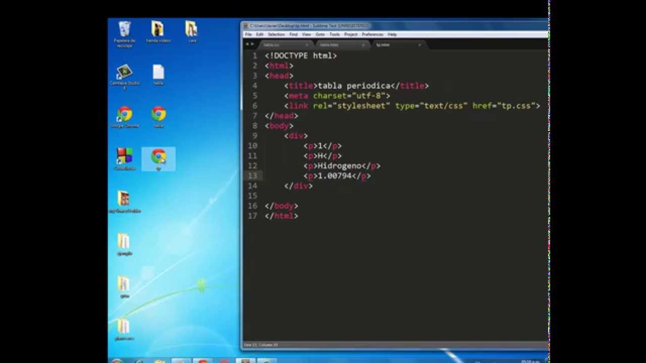 Tabla periodica1 html css youtube urtaz