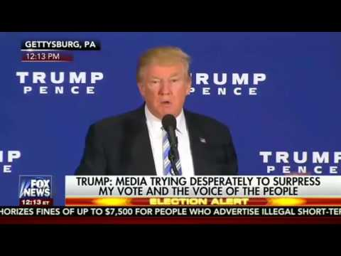 10/22/16 Today Donald Trump Declared FULL OUT War on the CORRUPT SYSTEM(Full Gettysburg Speech)