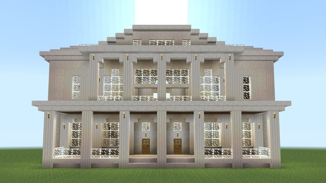 Minecraft How To Build A Quartz Mansion Youtube