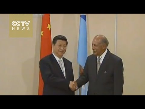 Presidents of China and Fiji meet to promote closer ties