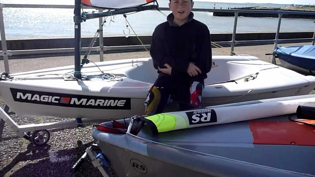 basic how to rig your rs feva with smoky video 2 youtube rh youtube com RS Vision Trapeze RS Vision Sailboat Review