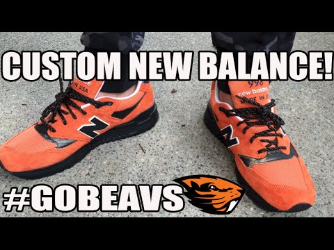 Custom Tutorial: My Clearance New Balance 998s (Time Lapse) #GoBeavs