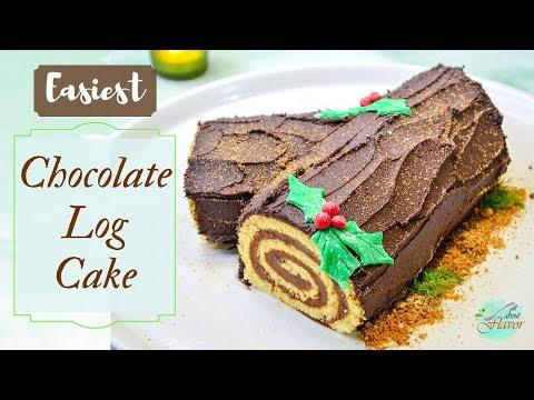 simplest-buche-de-noel-|-chocolate-yule-log-|-easy-swiss-roll-recipe