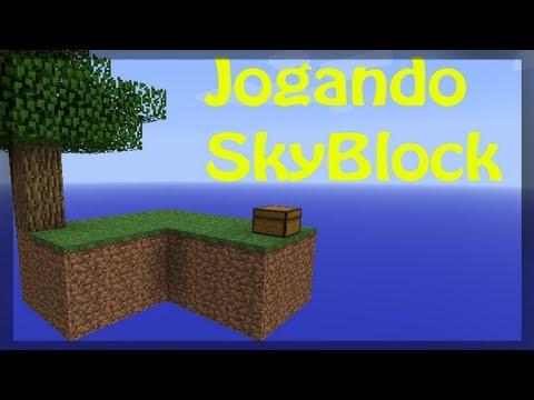 Jogando SkyBlock com André - Ep 1