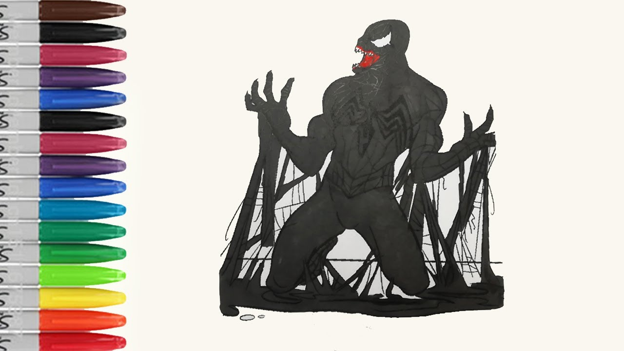 venom is born to kill spiderman coloring pages the spiderman 3