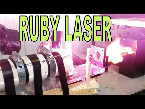 Giant 13kJ  RUBY LASER CANNON! Test Shots and Overview!!