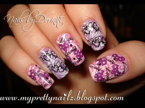 Lovely Konad Valentine S Day Love Nail Art Stamping Tutorial