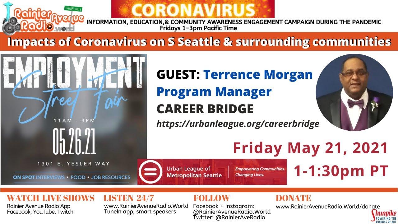 5-21-21 Seattle Urban League Career Bridge Career Fair - Impacts of Coronavirus LIVE