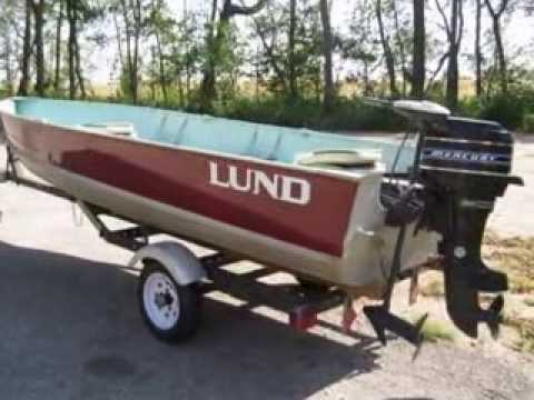 1975 16 foot lund s16 midi deep wide fishing boat for