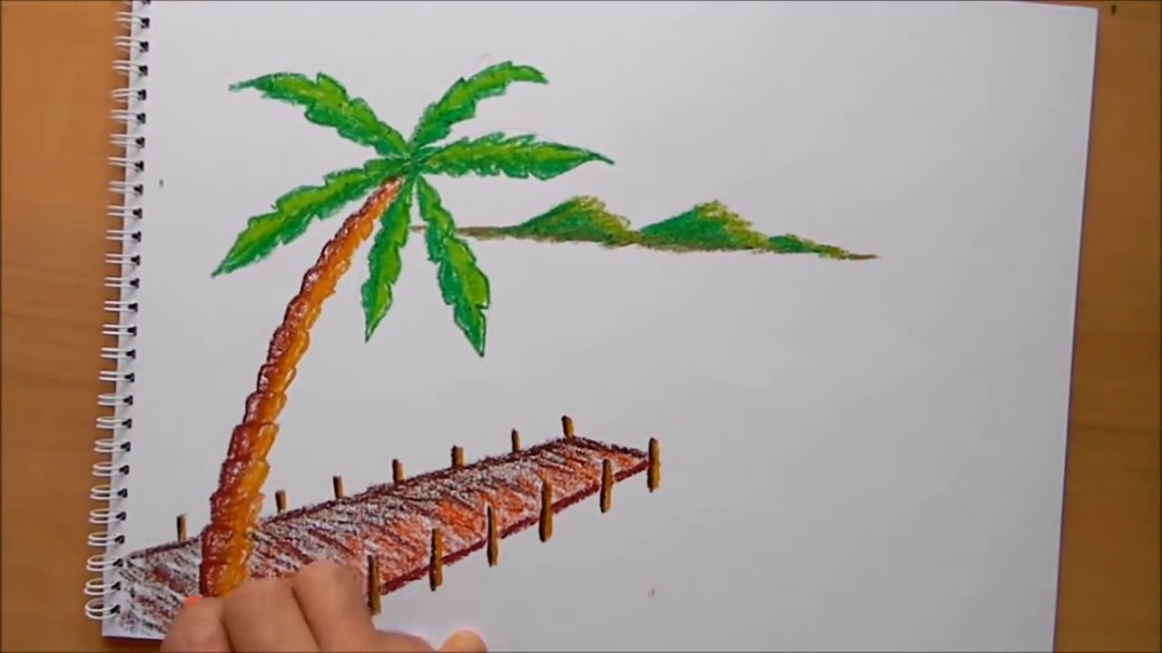 Manzara Resmi Kolay Boyama Coloring Free To Print