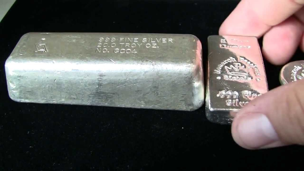 Vintage Golden Ytical Silver Bar Unboxing From Monarch Precious Metals You