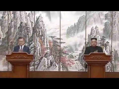 Kim and Moon jointly announce outcome of summit in Pyongyang