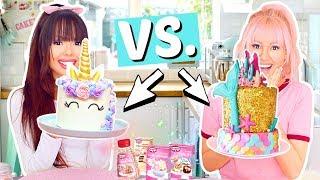 EINHORN Torte gegen MEERJUNGFRAU Torte 🦄 BFF Battle 👯♀️ | ViktoriaSarina
