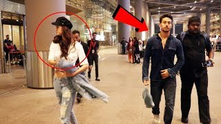 Tiger Shroff And Disha Patani FIGHT AT Airport, IGNORES Each Other