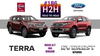 H2H #186 Nissan TERRA vs Ford EVEREST