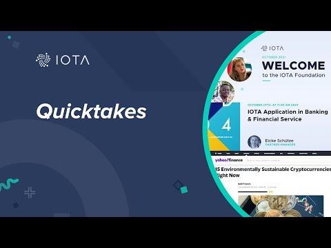 IOTA Quicktakes 04.10.2021: Business Ecosystem, Sustainable Cryptocurrencies, IOTA is growing…