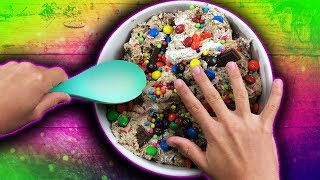 How to make Fluffy Marshmallow Candy Slime! Pantry Challenge! DIY SLIME Recipe!