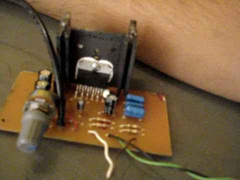 Teste Amplificador com TDA2005R em Bridge - YouTube
