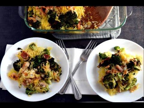 Chicken And Broccoli Spaghetti Squash Casserole