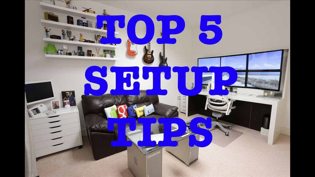 top 5 tips for the best ultimate desk setup ! - youtube