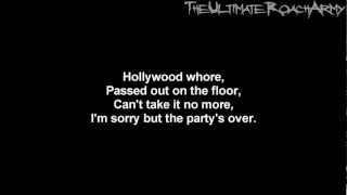 Papa Roach - Hollywood Whore {Lyrics on screen} HD