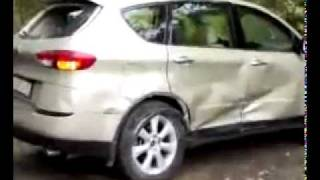 revenge angry girl crashing into her ex boyfriends car