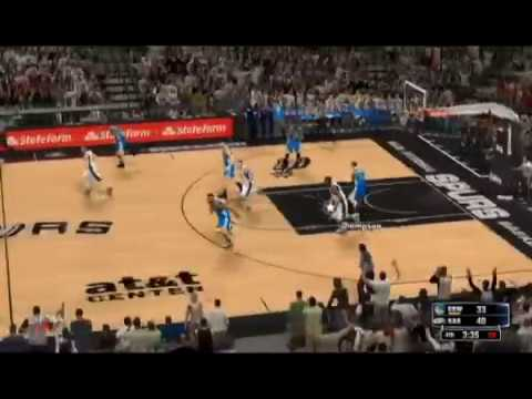NBA2K: Warriors vs Spurs Q4 | NBA 2016-2017 Season