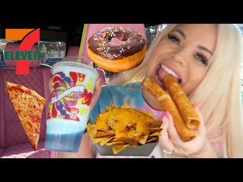 GAS STATION MUKBANG (7 ELEVEN EATING SHOW) | TRISHA PAYTAS