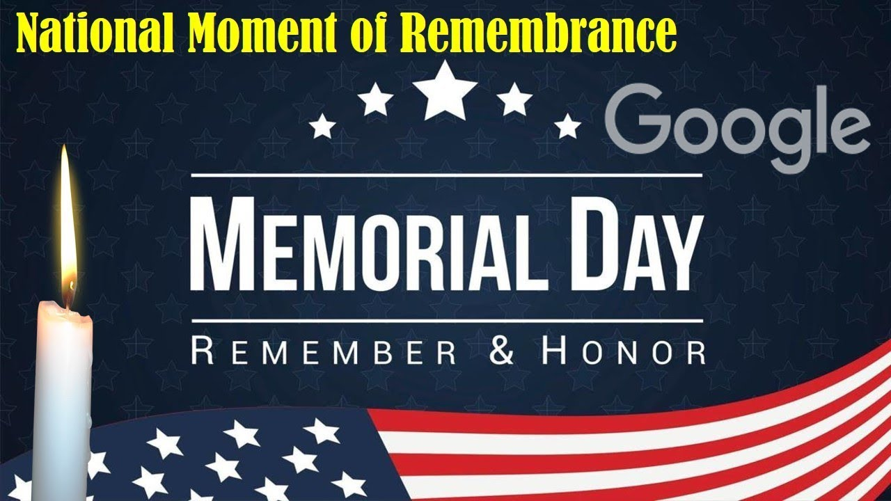 National Moment Of Remembrance 2019 Memorialday2019 Youtube