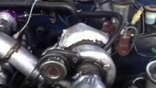 Toyota 22r blow through turbo 10 psi