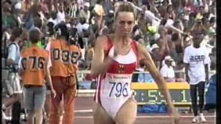 Olympic summer games Bercelona 1992 longjump qualifikation Heike Drechsler