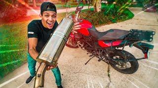 TROLEI MEU AMIGO DEIXANDO A MOTO (BMW F800) DELE SÓ O CANO!!! \ AFREIM \